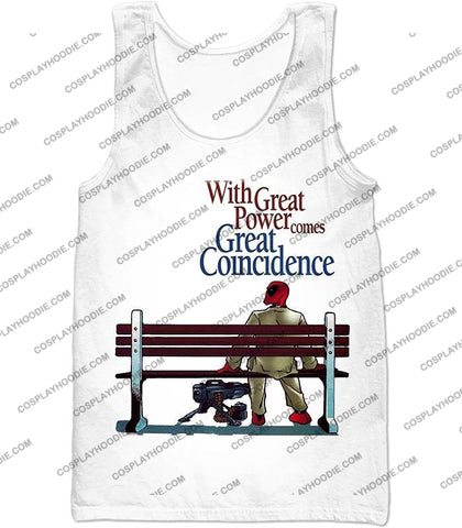 Image of Cool Deadpool Funny Quotes White T-Shirt Dp121 Tank Top / Us Xxs (Asian Xs)