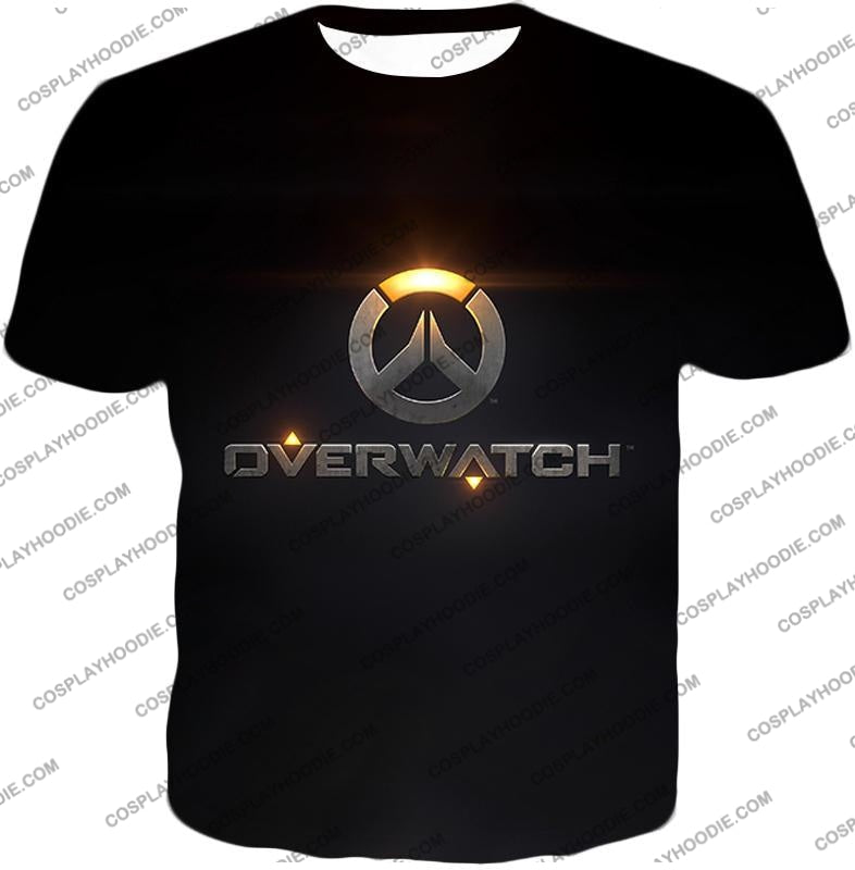 Overwatch Super Cool Promo Black T-Shirt Ow122 / Us Xxs (Asian Xs)