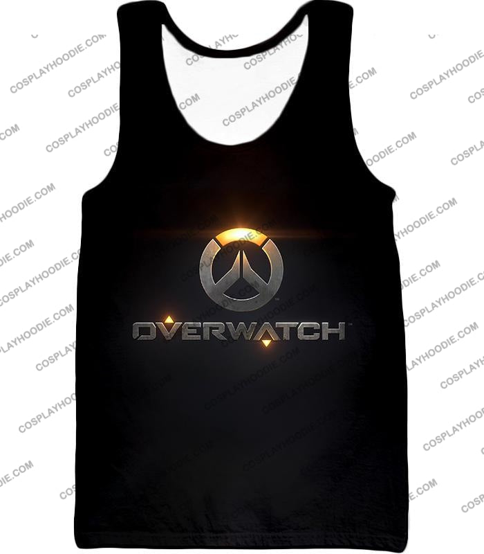 Overwatch Super Cool Promo Black T-Shirt Ow122 Tank Top / Us Xxs (Asian Xs)