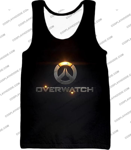 Image of Overwatch Super Cool Promo Black T-Shirt Ow122 Tank Top / Us Xxs (Asian Xs)