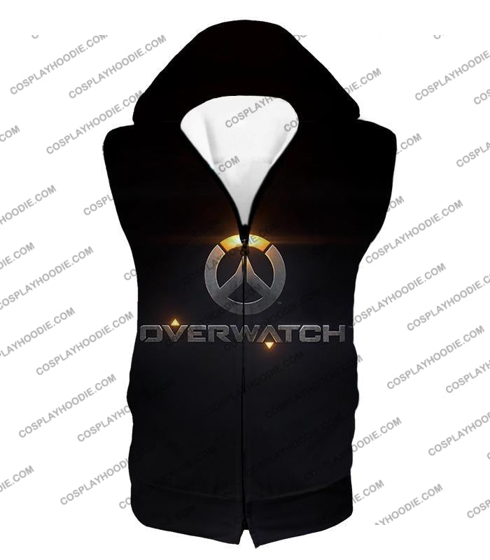 Overwatch Super Cool Promo Black T-Shirt Ow122 Hooded Tank Top / Us Xxs (Asian Xs)