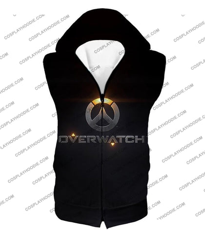 Image of Overwatch Super Cool Promo Black T-Shirt Ow122 Hooded Tank Top / Us Xxs (Asian Xs)