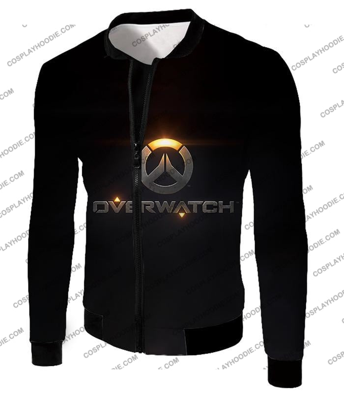 Overwatch Super Cool Promo Black T-Shirt Ow122 Jacket / Us Xxs (Asian Xs)