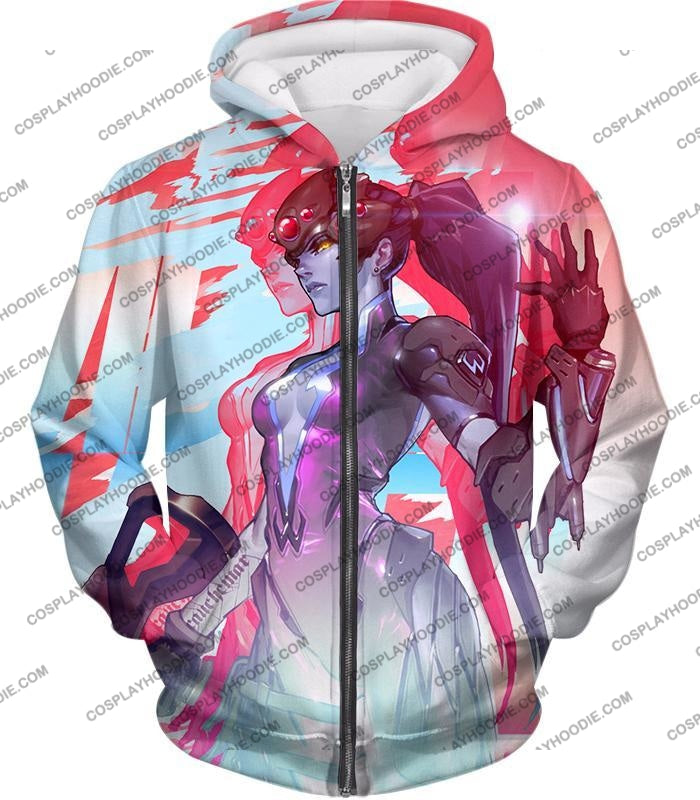Overwatch Cold Hearted Villain Widowmaker T-Shirt Ow123 Zip Up Hoodie / Us Xxs (Asian Xs)