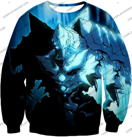 Image of Overlord Ultimate Ruler Of The Frozen Glacier Cocytus Cool Anime Promo T-Shirt Ol123 Sweatshirt / Us