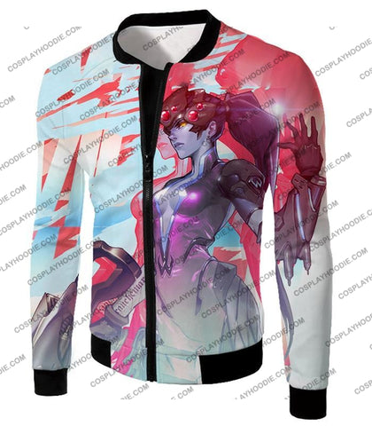 Image of Overwatch Cold Hearted Villain Widowmaker T-Shirt Ow123 Jacket / Us Xxs (Asian Xs)