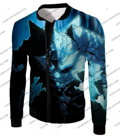 Image of Overlord Ultimate Ruler Of The Frozen Glacier Cocytus Cool Anime Promo T-Shirt Ol123 Jacket / Us Xxs
