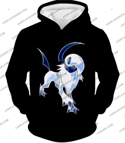 Image of Pokemon Super Cool Disaster Absol Awesome Promo Black T-Shirt Pkm127 Hoodie / Us Xxs (Asian Xs)