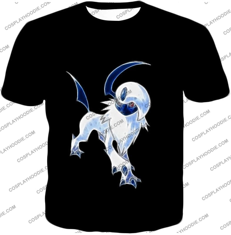 Pokemon Super Cool Disaster Absol Awesome Promo Black T-Shirt Pkm127 / Us Xxs (Asian Xs)
