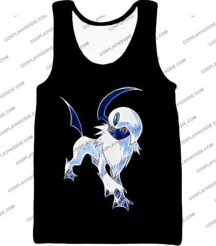 Image of Pokemon Super Cool Disaster Absol Awesome Promo Black T-Shirt Pkm127 Tank Top / Us Xxs (Asian Xs)