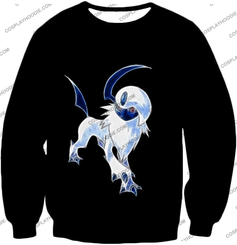 Pokemon Super Cool Disaster Absol Awesome Promo Black T-Shirt Pkm127 Sweatshirt / Us Xxs (Asian Xs)