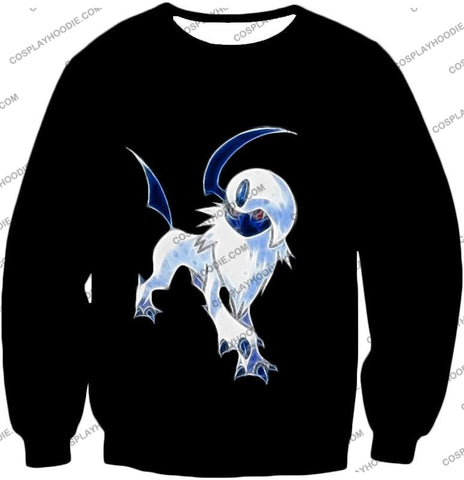 Image of Pokemon Super Cool Disaster Absol Awesome Promo Black T-Shirt Pkm127 Sweatshirt / Us Xxs (Asian Xs)