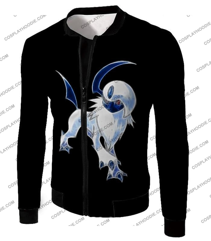 Pokemon Super Cool Disaster Absol Awesome Promo Black T-Shirt Pkm127 Jacket / Us Xxs (Asian Xs)