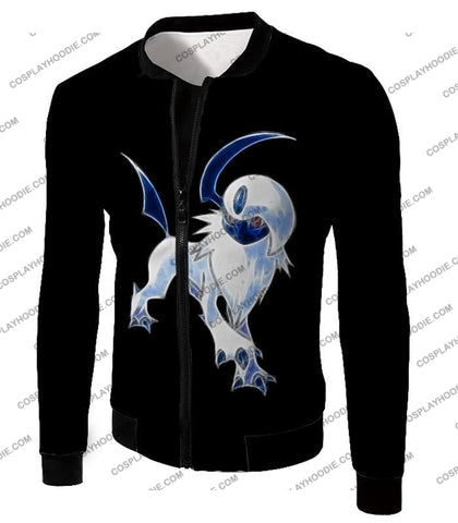 Image of Pokemon Super Cool Disaster Absol Awesome Promo Black T-Shirt Pkm127 Jacket / Us Xxs (Asian Xs)