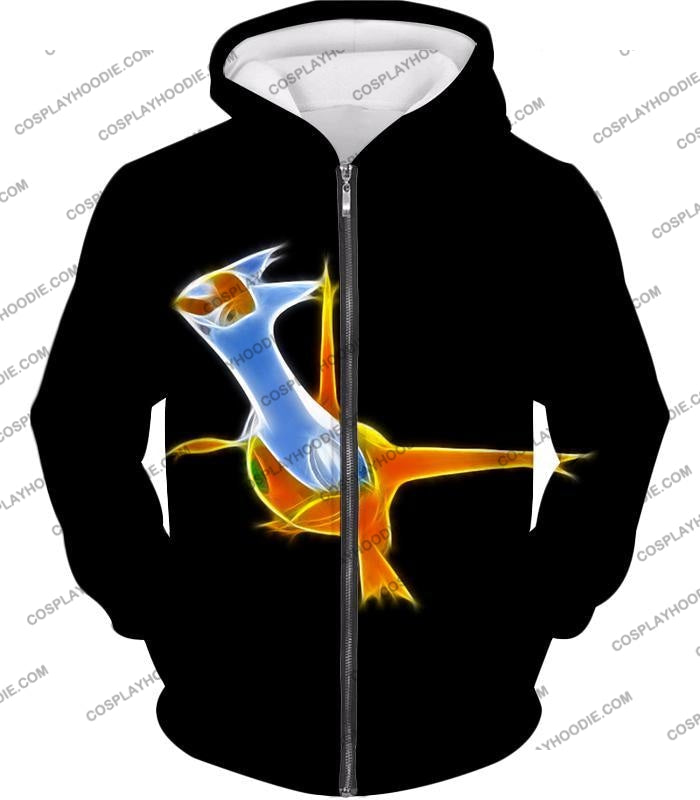 Pokemon Awesome Dragon Psychic Type Legendary Latias T-Shirt Pkm128 Zip Up Hoodie / Us Xxs (Asian