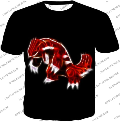 Image of Pokemon Cool Legendary Continental Groudon Awesome Black T-Shirt Pkm129 / Us Xxs (Asian Xs)