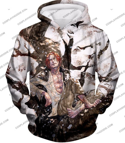 Image of One Piece Coolest Pirate Emperor Shanks Awesome T-Shirt Op013 Hoodie / Us Xxs (Asian Xs)