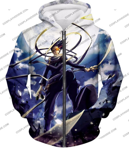 Image of My Hero Academia Amazing Pro Eraserhead Ultimate Action T-Shirt Mha063 Zip Up Hoodie / Us Xxs (Asian