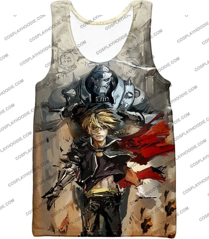 Image of Fullmetal Alchemist Amazing Elrich Brothers Edward X Alphonse Awesome Anime Art T-Shirt Fa013 Tank