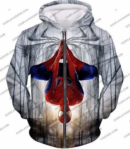 Image of Very Cool Hero Web Shooter Spiderman Action T-Shirt Sp131 - Zip Up Hoodie / Us Xxs (Asian Xs) - T-Shirt
