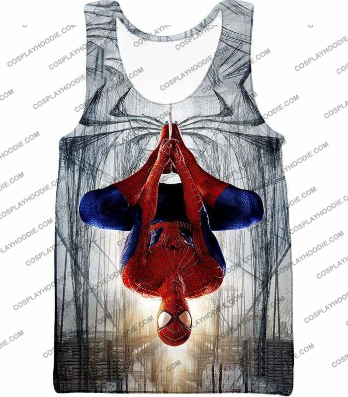 Very Cool Hero Web Shooter Spiderman Action T-Shirt Sp131 - Tank Top / Us Xxs (Asian Xs) - T-Shirt