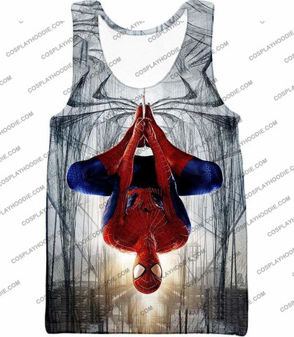 Image of Very Cool Hero Web Shooter Spiderman Action T-Shirt Sp131 - Tank Top / Us Xxs (Asian Xs) - T-Shirt