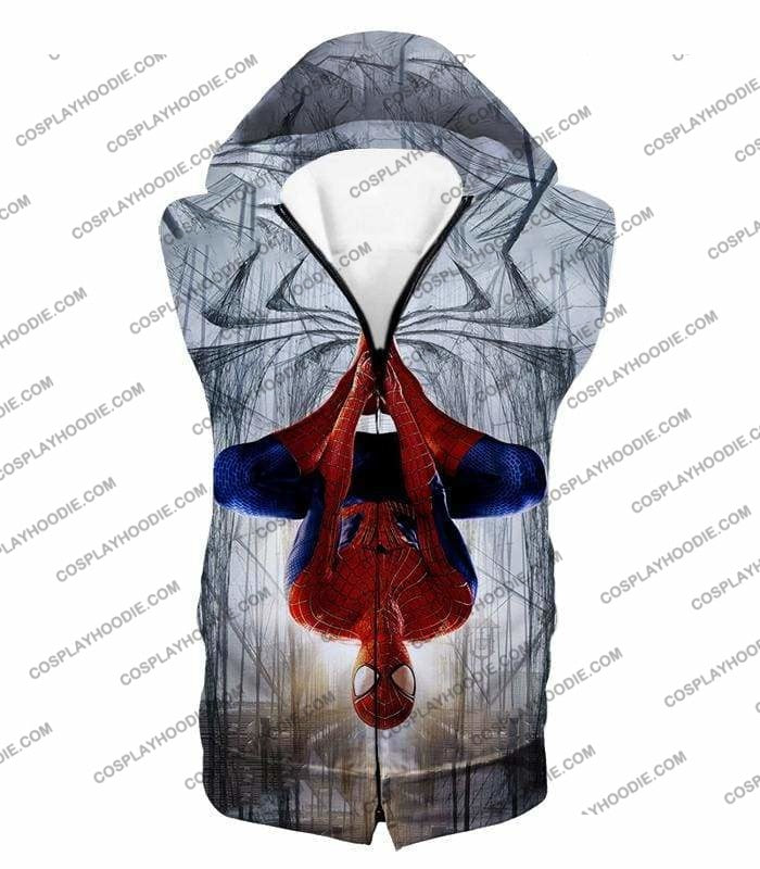Very Cool Hero Web Shooter Spiderman Action T-Shirt Sp131 - Hooded Tank Top / Us Xxs (Asian Xs) - T-Shirt
