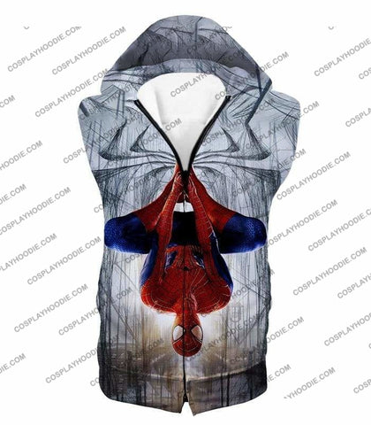 Image of Very Cool Hero Web Shooter Spiderman Action T-Shirt Sp131 - Hooded Tank Top / Us Xxs (Asian Xs) - T-Shirt