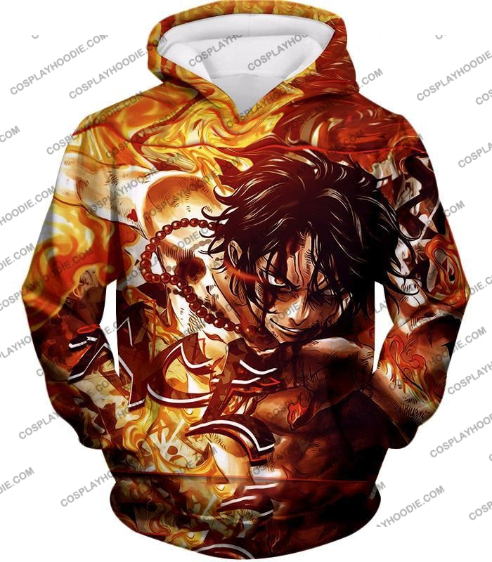 One Piece Cool Pirate Portgas D Ace Aka Fire Fist Action T-Shirt Op132 Hoodie / Us Xxs (Asian Xs)