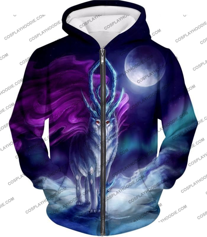 Pokemon Cool Legendary Suicune Fanart Hd Graphic Promo Anime T-Shirt Pkm134 Zip Up Hoodie / Us Xxs