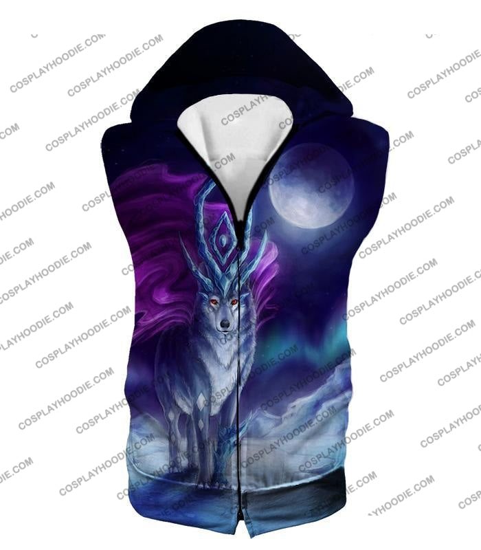 Pokemon Cool Legendary Suicune Fanart Hd Graphic Promo Anime T-Shirt Pkm134 Hooded Tank Top / Us Xxs