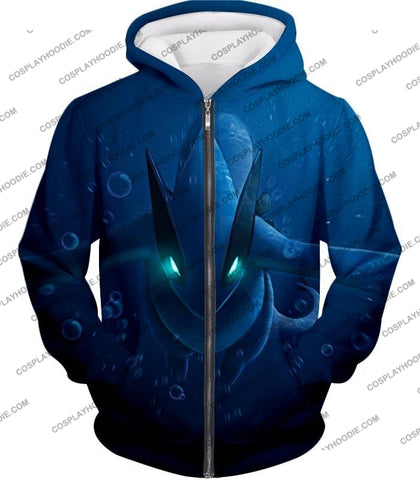 Image of Pokemon Very Cool Legendary Lugia Action Anime Graphic T-Shirt Pkm135 Zip Up Hoodie / Us Xxs (Asian