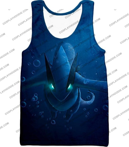 Image of Pokemon Very Cool Legendary Lugia Action Anime Graphic T-Shirt Pkm135 Tank Top / Us Xxs (Asian Xs)