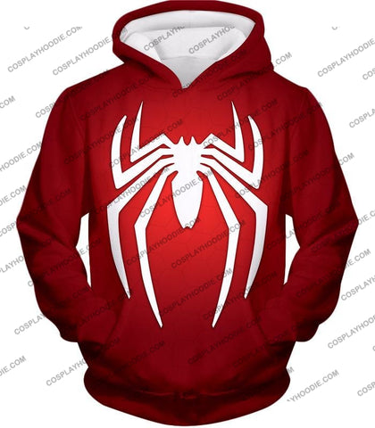 Image of Super Spiderman Logo Red Awesome T-Shirt Sp137 Hoodie / Us Xxs (Asian Xs)