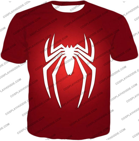 Image of Super Spiderman Logo Red Awesome T-Shirt Sp137 / Us Xxs (Asian Xs)