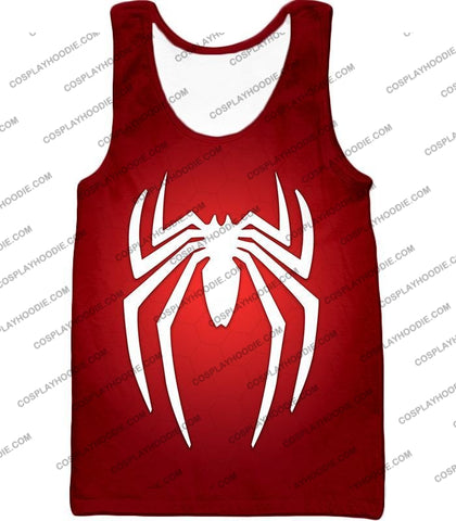 Image of Super Spiderman Logo Red Awesome T-Shirt Sp137 Tank Top / Us Xxs (Asian Xs)