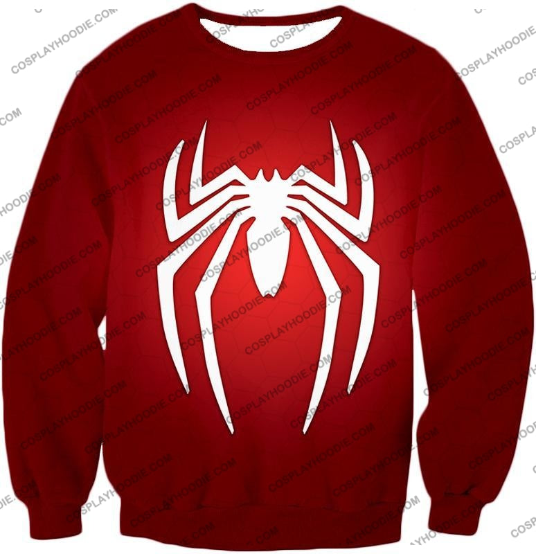 Super Spiderman Logo Red Awesome T-Shirt Sp137 Sweatshirt / Us Xxs (Asian Xs)