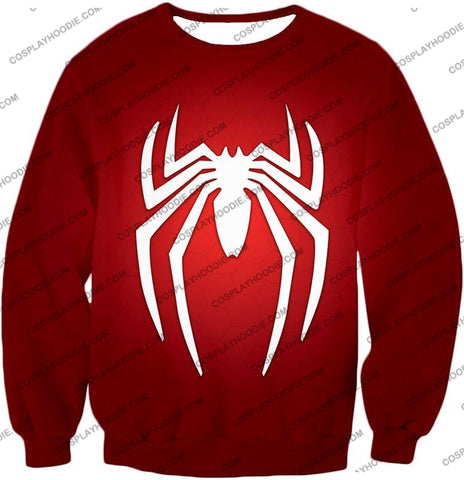 Image of Super Spiderman Logo Red Awesome T-Shirt Sp137 Sweatshirt / Us Xxs (Asian Xs)