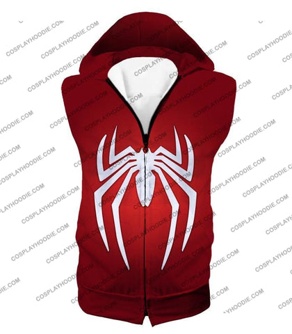Image of Super Spiderman Logo Red Awesome T-Shirt Sp137 Hooded Tank Top / Us Xxs (Asian Xs)
