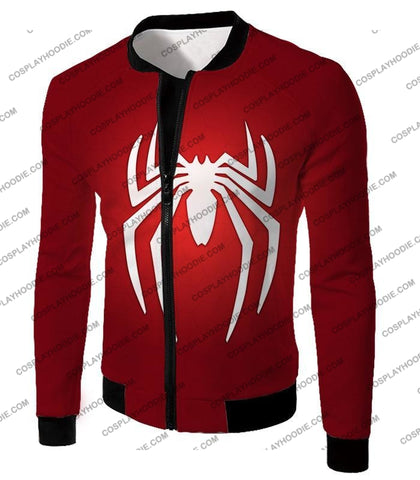 Image of Super Spiderman Logo Red Awesome T-Shirt Sp137 Jacket / Us Xxs (Asian Xs)