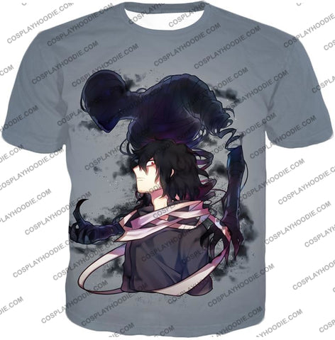 Image of My Hero Academia Cool Demi-Human X Pro Eraserhead Awesome Grey T-Shirt Mha064 / Us Xxs (Asian Xs)