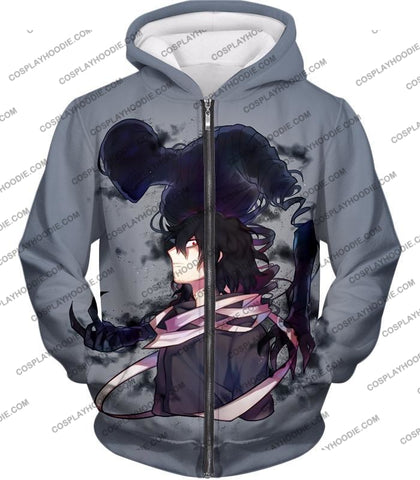 Image of My Hero Academia Cool Demi-Human X Pro Eraserhead Awesome Grey T-Shirt Mha064 Zip Up Hoodie / Us Xxs