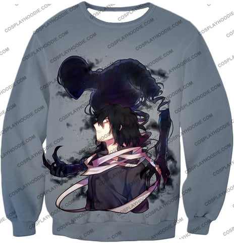 Image of My Hero Academia Cool Demi-Human X Pro Eraserhead Awesome Grey T-Shirt Mha064 Sweatshirt / Us Xxs