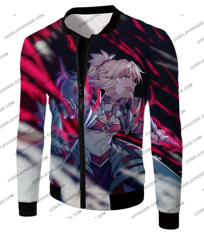 Fate Stay Night Fierce Villain Arturia Alter Action T-Shirt Fsn140 Jacket / Us Xxs (Asian Xs)
