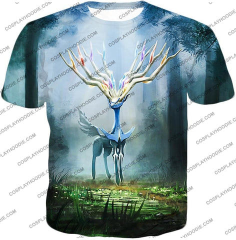 Image of Pokemon Very Cool Fairy Type Xerneas Awesome Anime Graphic T-Shirt Pkm142 / Us Xxs (Asian Xs)