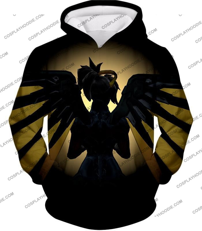Overwatch Awesome Flying Agent Healer Mercy T-Shirt Ow143 Hoodie / Us Xxs (Asian Xs)