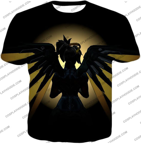 Image of Overwatch Awesome Flying Agent Healer Mercy T-Shirt Ow143 / Us Xxs (Asian Xs)
