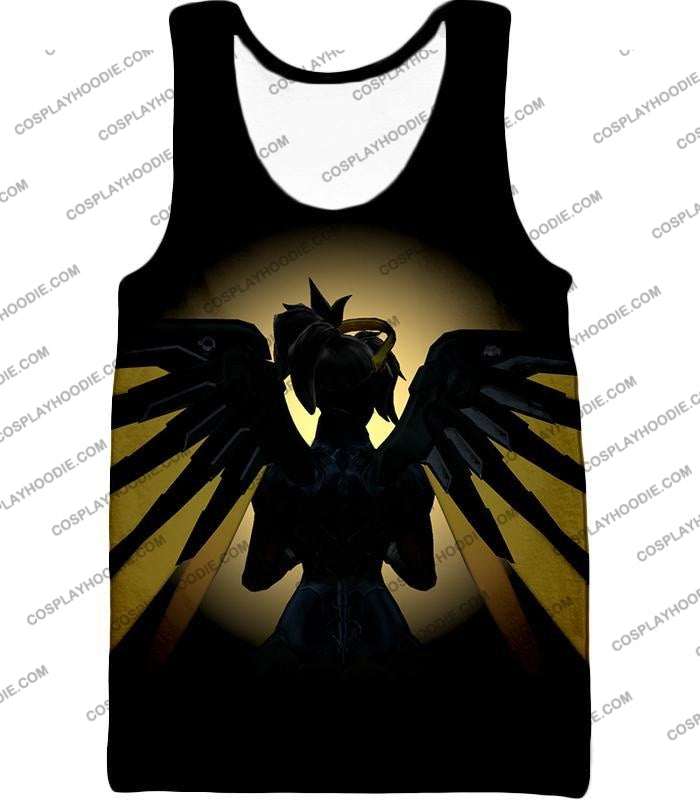 Overwatch Awesome Flying Agent Healer Mercy T-Shirt Ow143 Tank Top / Us Xxs (Asian Xs)