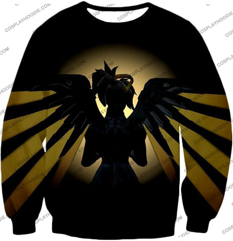 Image of Overwatch Awesome Flying Agent Healer Mercy T-Shirt Ow143 Sweatshirt / Us Xxs (Asian Xs)