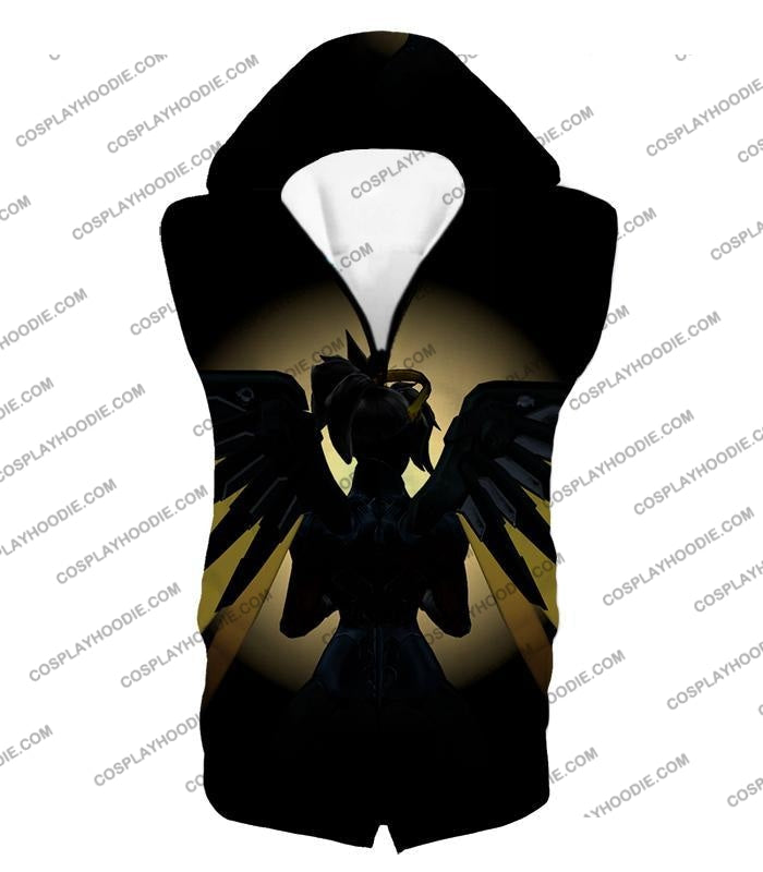 Overwatch Awesome Flying Agent Healer Mercy T-Shirt Ow143 Hooded Tank Top / Us Xxs (Asian Xs)